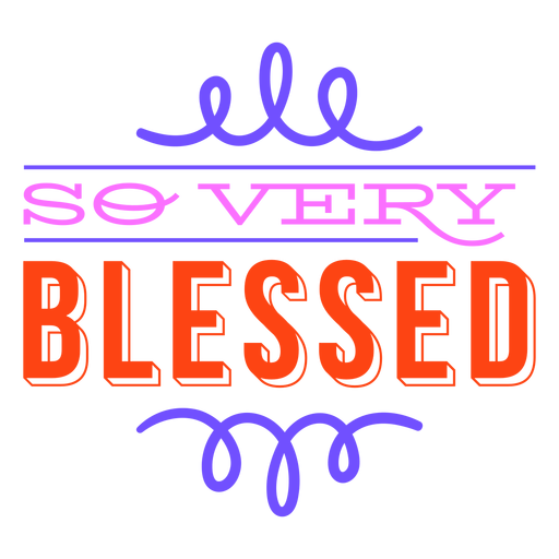 Very blessed thanksgiving lettering colorful Transparent PNG