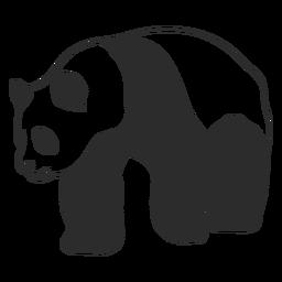 Curso de animal andando panda