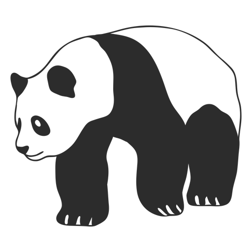 Caminando panda animal stroke Transparent PNG
