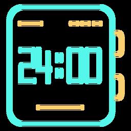 Assista o ícone do tempo digital