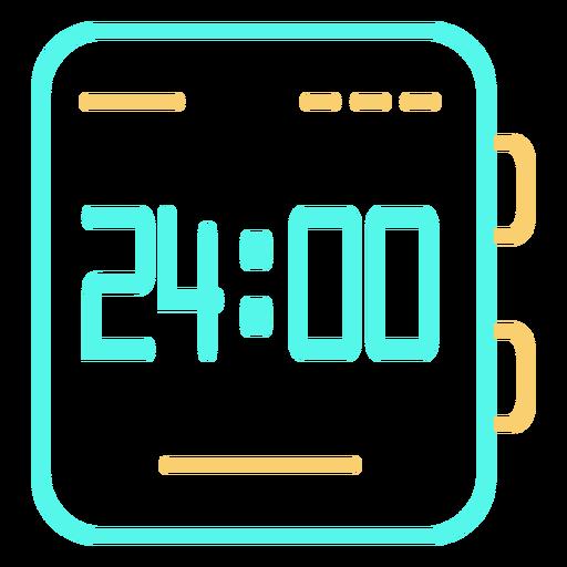 Ver icono de hora digital Transparent PNG