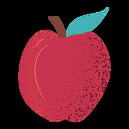 Manzana entera con textura