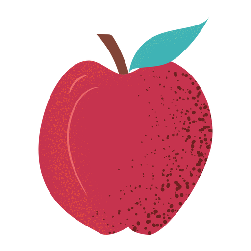 Whole apple fruit textured Transparent PNG