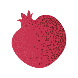 Fruta de romã inteira texturizada