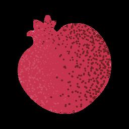 Granada entera con textura de frutas