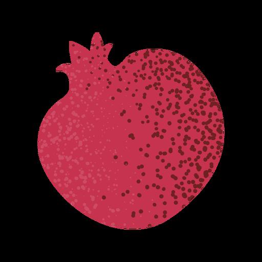 Fruta de granada entera con textura Transparent PNG