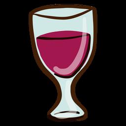 Copo de vinho mão desenhada