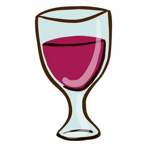 Wine cup hand drawn