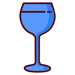 Wine glass goblet illustration icon