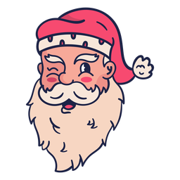 Piscando a cabeça de Papai Noel vintage