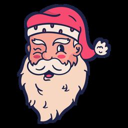 Winking vintage santa head
