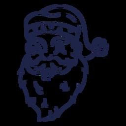 Winking vintage santa head stroke