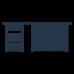 Perfil de estêncil para mesa de trabalho