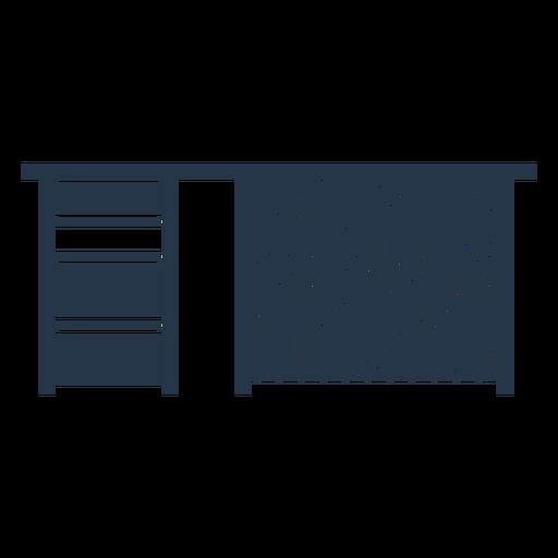 Work desk stencil profile