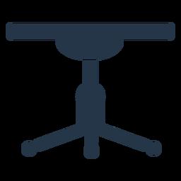 Plantilla de perfil de taburete de trabajo