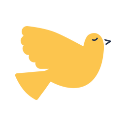 Pájaro amarillo plano