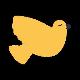 Plano pájaro amarillo