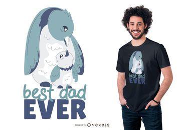 Melhor design de t-shirt de pinguim para o pai