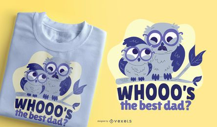Best Dad Owl T-Shirt Design