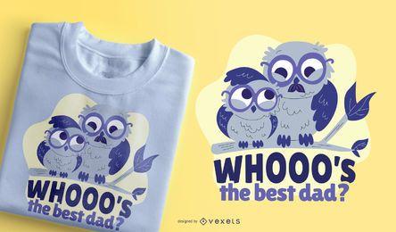 Melhor design de t-shirt de coruja do pai