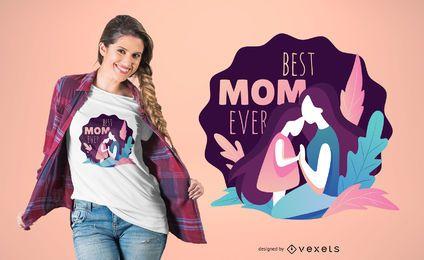 Diseño de camiseta de la mejor ilustración de mamá