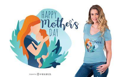 Feliz dia das mães Design de t-shirt