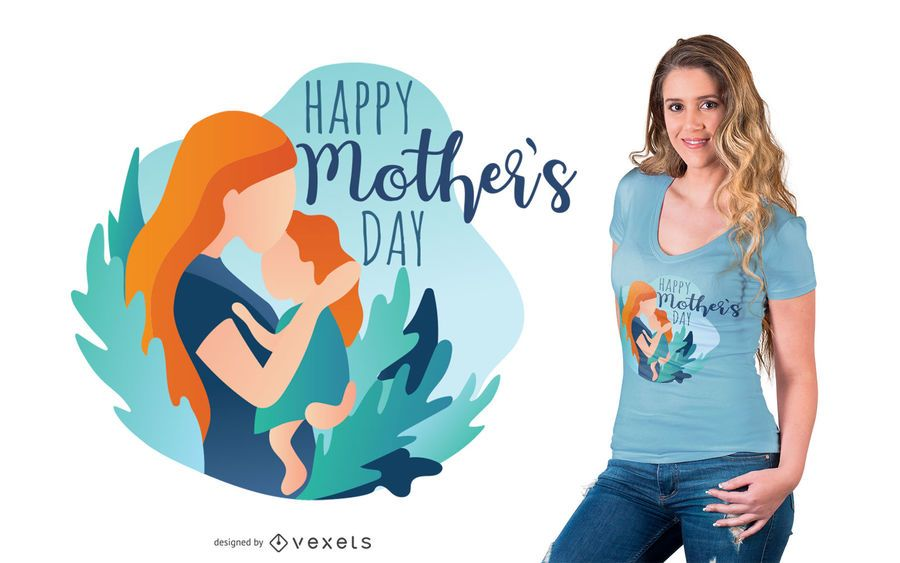 Diseño de camiseta de feliz día de la madre