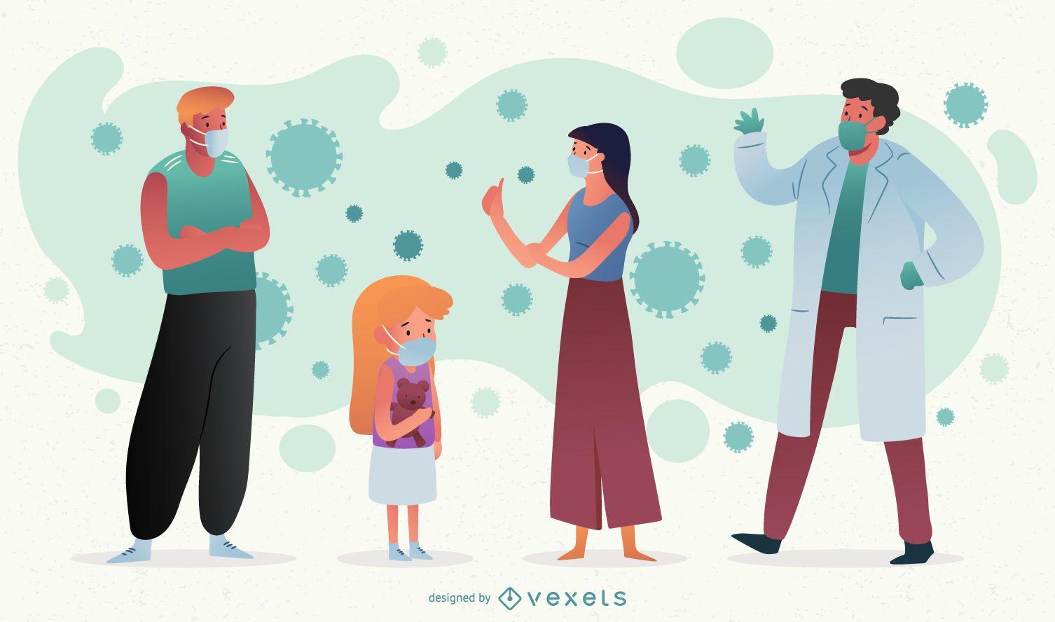 Coronavirus People Character Pack