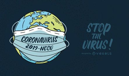Coronavirus Planet Quote Illustration