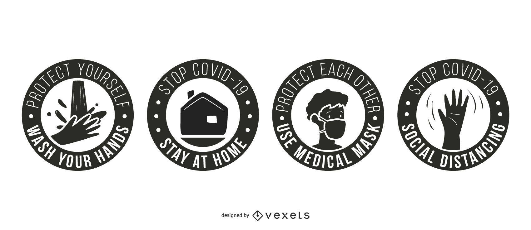 Coronavirus Stay Safe Badge Pack