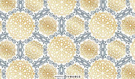 Diseño de patrón de tema de Ramadán