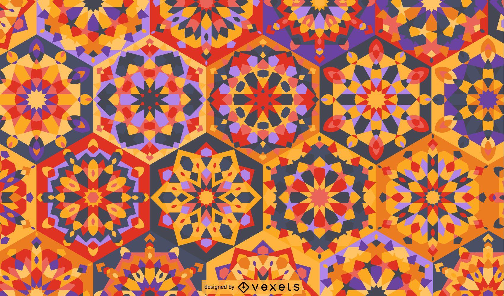 Colorful Ramadan Mandala Pattern