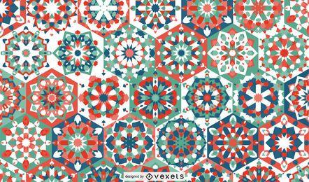 Design de padrão floral Ramadan