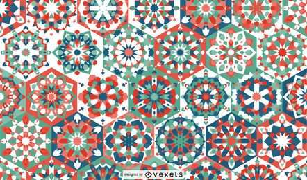 Diseño de patrón floral de Ramadán