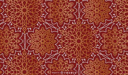 Diseño de patrón de mandala floral de Ramadán