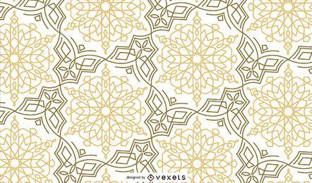 Diseño de patrón de oro negro Ramadán
