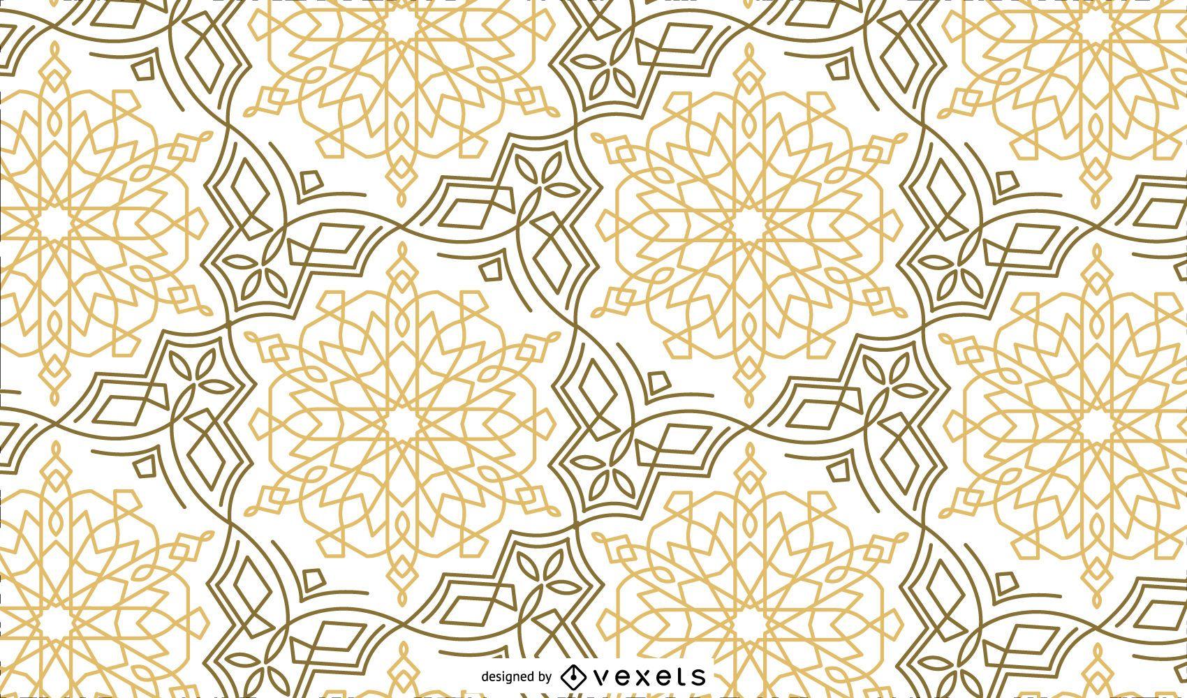Gold Black Ramadan Pattern Design