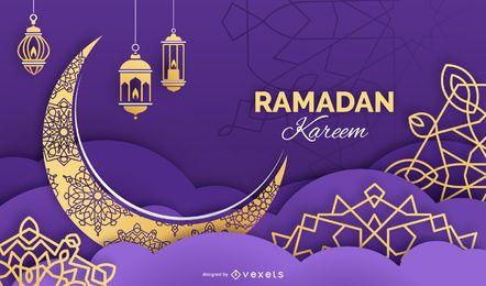 Diseño de fondo de Ramadán Kareem