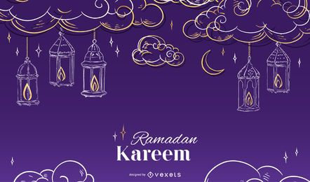 Design de fundo sazonal do Ramadã