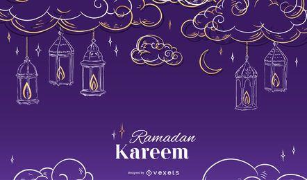Ramadan saisonale Hintergrundgestaltung