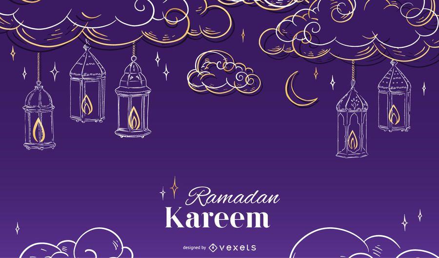 Ramadan Seasonal Background Design