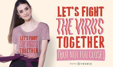 Lute o design do t-shirt das citações do vírus