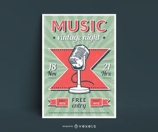 Music Vintage Style Poster Design