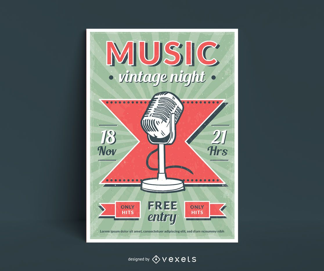 Music Vintage Style Poster Design