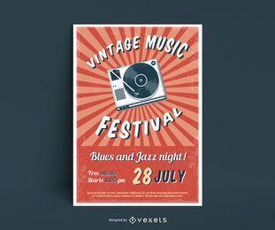 Cartaz do festival de música vintage