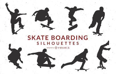 Skate Boarding Art Vectors- Gratis