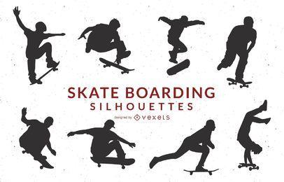 Skate Boarding Art Vetores grátis