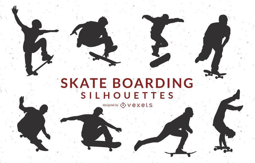 Skate Boarding Art Vectors- Gratis