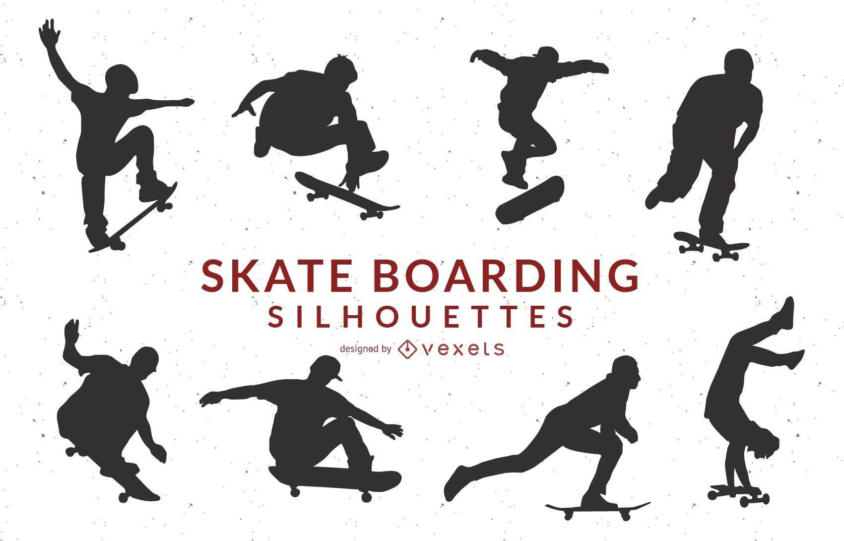 Skate Boarding Art Vectors- Free