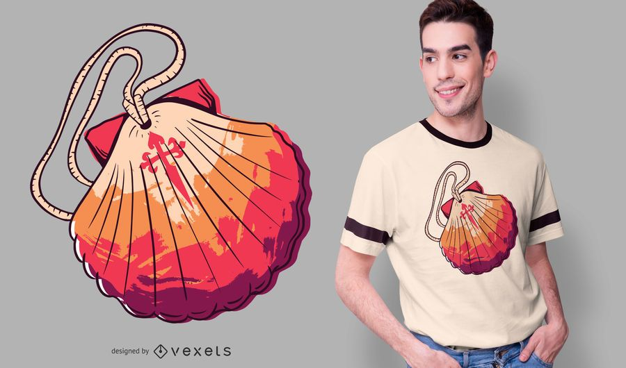 Diseño de camiseta de vieira Camino de Santiago